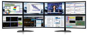 Eight-Screen Monitors: Zenview Atlas professional-grade eight-screen LCD monitors