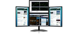 Four-Screen Monitors: Zenview PowerQuad professional-grade four-screen LCD monitors