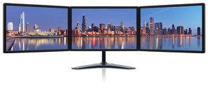 Triple Monitors: Zenview professional-grade triple-screen LCD monitors