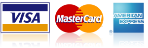 VISA MasterCard and American Express accepted